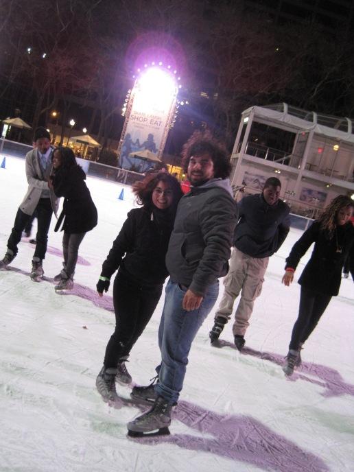 También se puede patinar en hielo