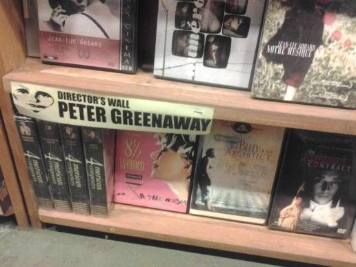 Hasta Peter Greenaway tiene su sección. Cachate esa!