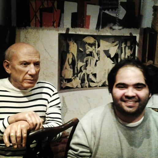 Con Picasso y Guernica de fondo!
